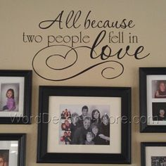 I didn't find this decal...but I did decorate my hallway with the picture frames and the cardboard (3D) letters - LOVE. I love it!