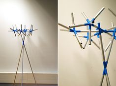"""Blue#1"" was created for 'Disrupt Dixon's Design Competition in 2013, where the aim was to use pre-developed 3D printed joints and combining them with aluminium pipes create new functional object."