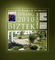 Spring 2010, Admissions Open Banner,  Institute of Business & Technology