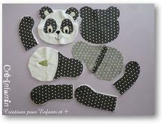 Panda softie free pattern.