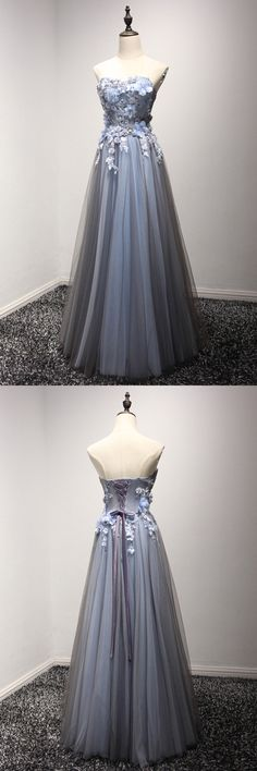 Only $149, Strapless Long Tulle Prom Party Dress With Special Floral Bodice #AKE18023 at #SheProm. SheProm is an online store with thousands of dresses, range from Prom,Formal,Evening,Blue,A Line Dresses,Long Dresses,Customizable Dresses and so on. Not only selling formal dresses, more and more trendy dress styles will be updated daily to our store. With low price and high quality guaranteed, you will definitely like shopping from us. Shop now to get $10 off!