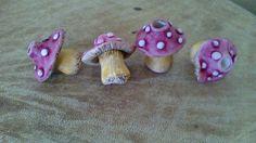 Mushroom Dread bead. Dreadlock beads. Dread by Miasdreadlockbeads