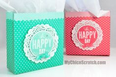 In honor of my Birthday today I'm sharing How to make a Gift Bag.  Isn't it so beautiful? …
