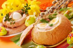 Easter Sunday in Poland is celebrated with an Easter breakfast. Easter breakfast includes the foods blessed on Easter Saturday as well as other traditional Easter foods and is typically a family-oriented occasion. Hard boiled eggs and cold meats like sausage often make up the Polish Easter breakfast.