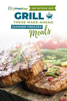 Summer time is upon us and we want easy, delicious make-ahead meals to grill - because that's the best, simplest summer dinner ever! Tap here for our best summer grill freezer meals! Grilling Recipes, Pork Recipes, Seafood Recipes, Chicken Recipes, Cooking Recipes, Healthy Recipes, Freezer Friendly Meals, Make Ahead Freezer Meals, Freezer Cooking