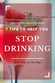 Girl & Tonic, Alcohol Free Living: 7 Things that Helped me to Stop Drinking Giving Up Alcohol, Alcohol Free, Giving Up Drinking, How To Stop Drinking, Quit Drinking Alcohol, Benefits Of Quitting Alcohol, Helping An Alcoholic, Getting Sober, Alcohol Quotes