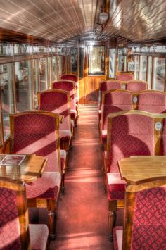 Train interior... train is the best way to travel...