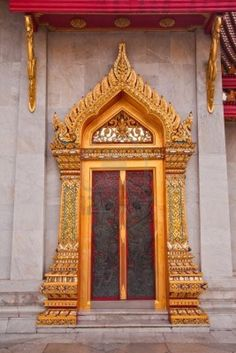 Thai Style Temple's Door