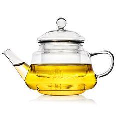 Transparent glass heat resistant thick bold flower tea kungfu tea filtering capacity tea pot kettle