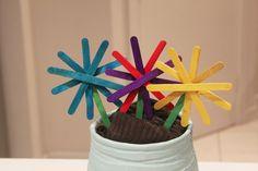 pop sick flowers, popsicle stick crafts, flower crafts, spring craft activities  - Popsicle Stick Flowers