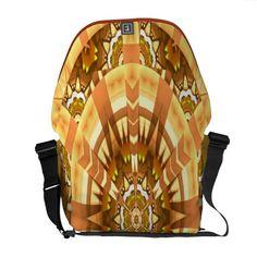 Wonderful Kaleidoscopic Art Design Messenger Bag.