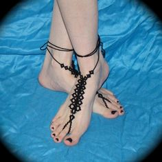 The Spine  Tatted Barefoot Sandals by TotusMel on Etsy, $33.00
