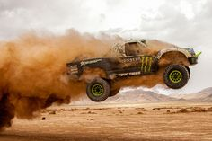Monster Energy, BJ Baldwin, trophy truck off road truck Pajero Off Road, Hummer, Rallye Raid, Wheel In The Sky, Sports Car Wallpaper, Offroader, Trophy Truck, Off Road Racing, Rally Car