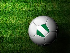 Tunde Folawiyo - nigeria-flag-pattern-3d-rendering-of-a-soccer-ball-in-green-grass