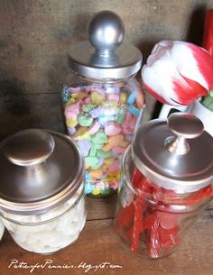 DIY Apothecary Jars.. this is a great idea... for recipes in a jar... bathroom... def doing this one..... LoVe It!..*C