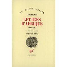 Lettres d'Afrique, 1914-1931: Amazon.fr: Karen Blixen: Livres