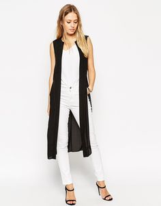 Image 1 ofASOS Sleeveless Longline Kimono