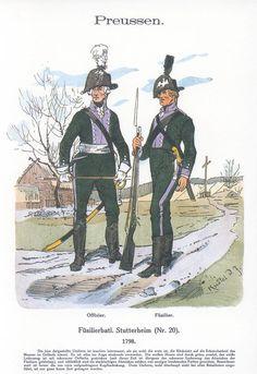Band XVIII #18.- Preußen. Füs. Bat. Stutterheim Nr. 20. 1798.