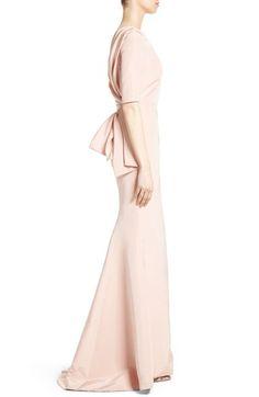 Main Image - Carolina Herrera Draped V-Back Gown