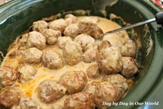Blog post at Day By Day in Our World : My boys are big on meat. One of their favorites is meatballs. Instead of the regular red sauce, I decided to try my hand at making Crock-P[..]