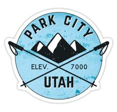 Utah Snowflake Sticker Decal Vinyl UT snow flake snowboard skiing skii