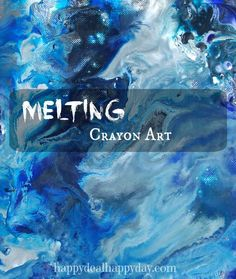 Melting Crayon Art!! Make this amazing wall art with some crayons, canvas, and heat gun! Easy and fun! happydealhappyday.com