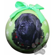Newfoundland Newfie Shatterproof Dog Christmas Ornament http://doggystylegifts.com/products/newfoundland-newfie-shatterproof-dog-christmas-ornament