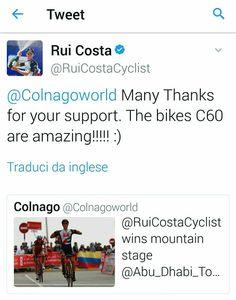 Colnago, Race winner Rui Costa
