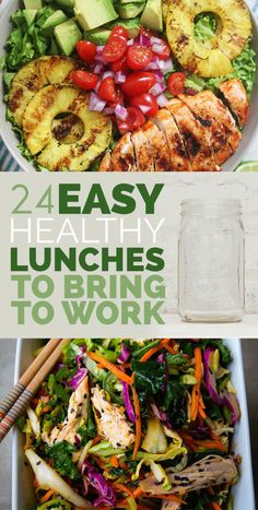24 Easy Healthy Lunches To Bring To Work In 2015. So many good recipes!