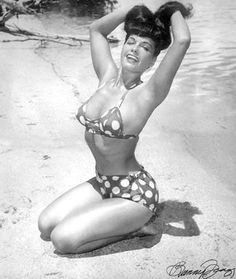 """Bettie Page """"I love to swim in the nude and roam around the house in the nude. You're just as free as a bird!"""""""