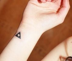 Triforce tattoo Im planning on getting it white Its supposed to fade a