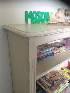 Pine shelf now distressed