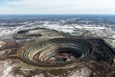 how are russian diamonds being mined