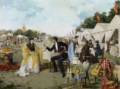 Rafael Arroyo Fernández. 'En la feria', 1886