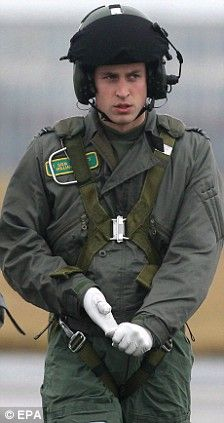 Prince William as a RAF search and rescue helicopter pilot