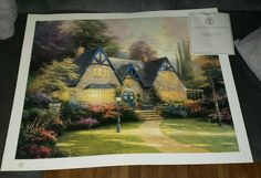 Thomas Kinkade Santa/'s Workshop 18 x 27 S//N LE Paper