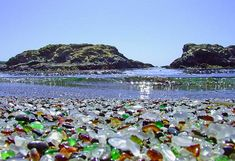 Glass Beach – Fort Bragg, California (wiki link :: http://en.wikipedia.org/wiki/Glass_Beach_(Fort_Bragg,_California) )
