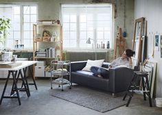 IKEA: nos coups de cœur du catalogue 2016 - Marie Claire Maison / Un salon au style atelier artiste, Artist style for the living room