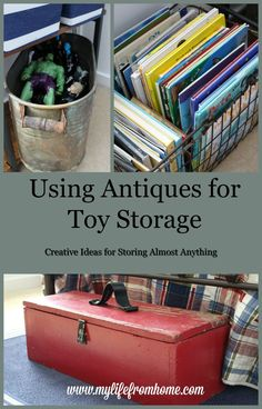 Storage Does NOT need to be UGLY!  Come see the incredible antique pieces I found to store my son's toys in style!   My Life From Home   http://www.mylifefromhome.com   boys bedroom   boys bedroom ideas   preppy boy bedroom   classic bedroom style   sports themed   kids bedroom   sports bedroom   vintage storage   hairpin leg desk   bedroom storage   storage pieces