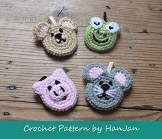 Instant Download PDF Crochet PatternAnimal door HanJanCrochet, £2.49