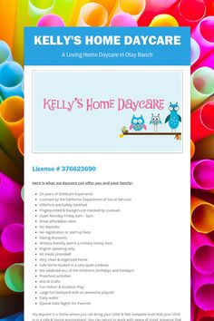 Kelly's Home Daycare