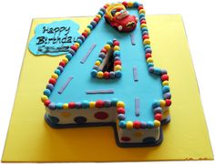 number 4 cake - cute for little kids