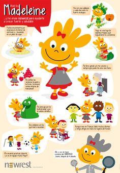 Poster de presentación del personaje Madeleine para NewRest. www.onaccent.com #cooking #design #kids #illustration