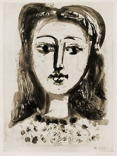 Portrait of Françoise Gilot, 1946 - Picasso Pablo Picasso, Kunst Picasso, Art Picasso, Picasso Blue, Picasso Drawing, Picasso Sketches, Picasso Rose Period, Oil Painting Abstract, Oil Paintings