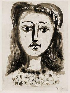 Pablo Picasso. Portrait de Françoise Gilot. 1946