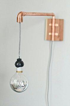 DIY Lampe Kupferrohr