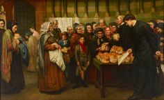 For the Bread of the Needy is Their Life (1870), Valentine Cameron Prinsep. #art #painting