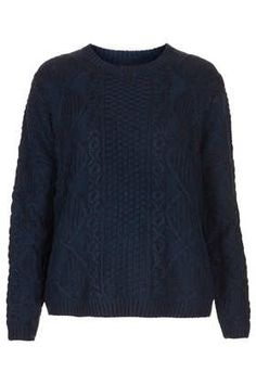 Knitted Cable Boxy Jumper