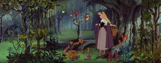 Sleeping Beauty (1959, dir. Clyde Geronimi) is stunning in its original ultra-widescreen on Blu-ray. The last Disney animated feature with hand-drawn cells, they achieved incredible levels of detail by painting on 70mm film.
