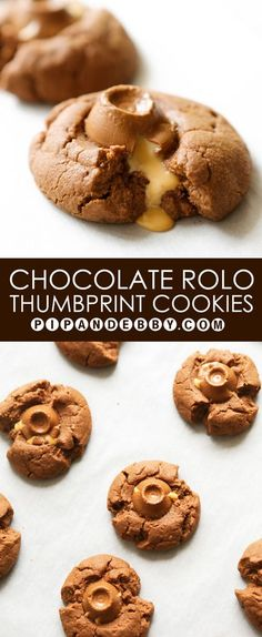 Chocolate Rolo Thumbprint Cookies | These could not be ANY easier to make. They won 2nd place at my hubby's work holiday baking contest!!